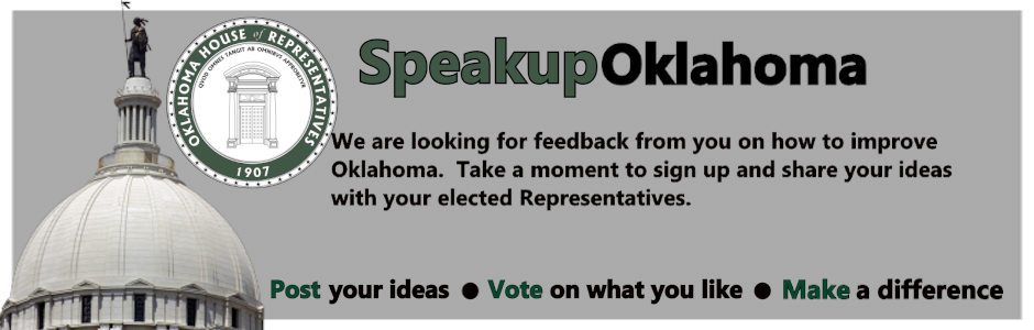 Oklahoma House of Representatives Speak Up Page